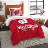 The Northwest Twin Wisconsin Bedding Set (Red/White)