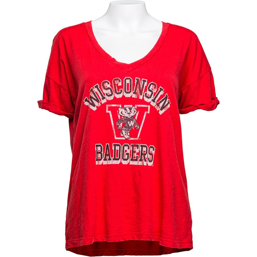 Retro Brand Women s Vault V-Neck T-Shirt (Red)  650b72b771