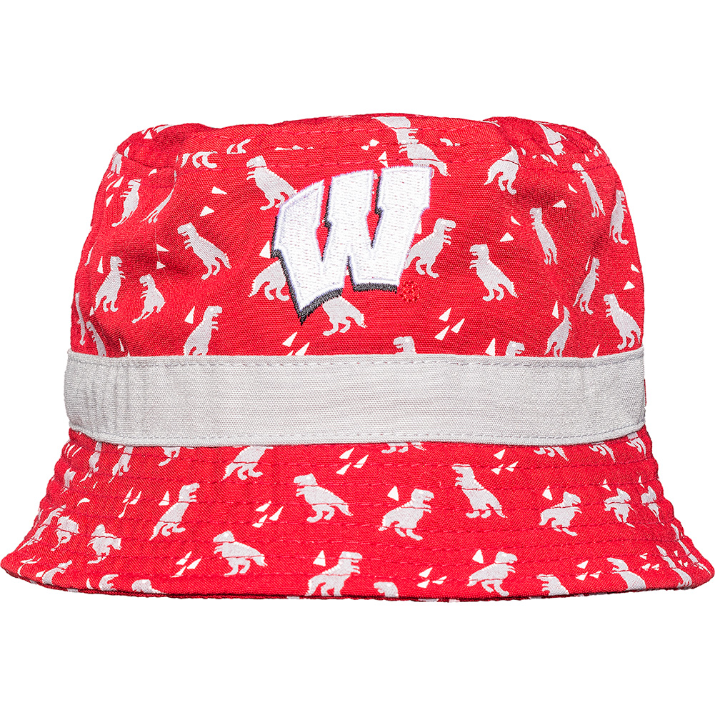 New Era Infant Wisconsin Badgers Dino Bucket Hat (Red Grey ... 26bcf4b000b