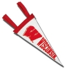 Collegiate Pacific Wisconsin Motion W Pennant (White) *