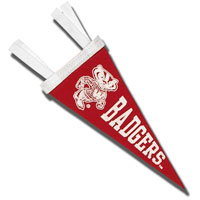 Collegiate Pacific Bucky Badger Pennant (Red)