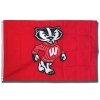 University Blanket & Flag Decorative Bucky Badger Flag (Red)