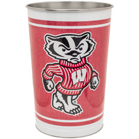 WinCraft Wisconsin Badgers Tapered Wastebasket