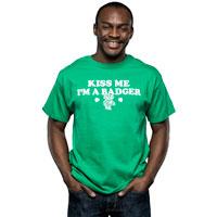 "Champion ""Kiss Me I'm A Badger"" T-Shirt (Green)"
