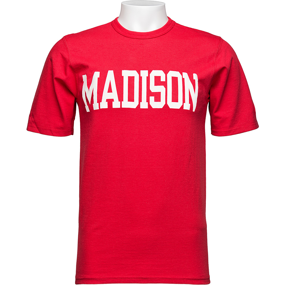 Champion madison t shirt red university book store for T shirt printing madison wi