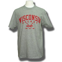 Champion Wisconsin Hockey T-Shirt (Gray)