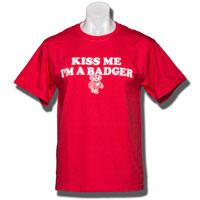"Champion ""Kiss Me I'm A Badger"" T-Shirt (Red)"
