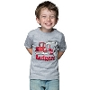 "Top Promotion Toddler/Child T with ""I Dig the Badgers""(Gray)"