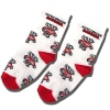 For Bare Feet Kids Bucky Badger Socks (White)
