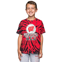 """Top Promotions Youth """"Grateful Red"""" T-Shirt (Red/Black)"""