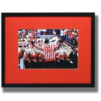 Framed Art - Bucky Badger and the UW Band