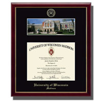 Church Hill Classics School Diploma Frame-Bascom Hall Photo