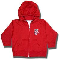 College Kids Infant Bucky Badger Full Zip Sweatshirt (Red)
