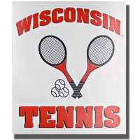 Potter Decals Die-Cut Wisconsin Tennis Decal *