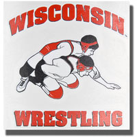 Potter Decals Die-Cut Wisconsin Wrestling Decal *