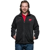 Columbia Wisconsin Badgers Full Zip Fleece Jacket (Black)