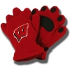 Bear Hands and Buddies Infant/Toddler Badger Mittens (Red)