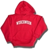 College Kids Toddler WI Hooded Sweatshirt (Red)