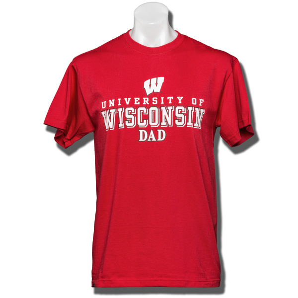 Jansport wisconsin dad t shirt red university book store for University of wisconsin t shirts