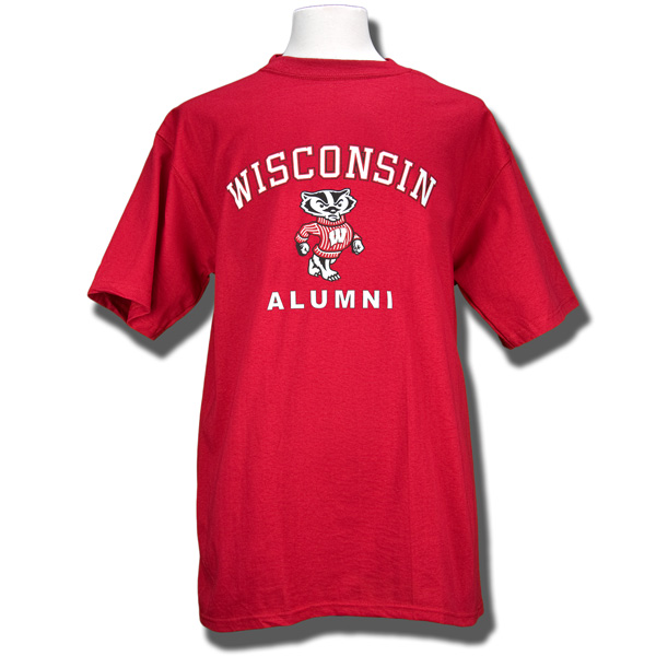 Blue 84 alumni t shirt red university book store for T shirt printing madison wi