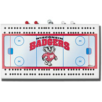 Rico Industries, Inc. Wisconsin Cribbage Board (Hockey)