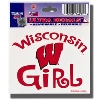 WinCraft Wisconsin Girl Decal*