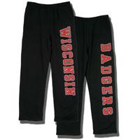 JanSport Front/Back Wisconsin Sweatpants (Black)