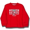 College Kids Toddler Long Sleeve Wisconsin T-Shirt (Red)
