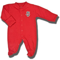 Creative Knitwear Bucky Badger Romper (Red)