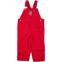 Creative Knitwear Bucky Badger Infant/Toddler Overalls (Red)
