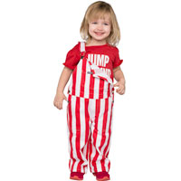 Game Bibs Infant/Toddler Overalls (Red/White)