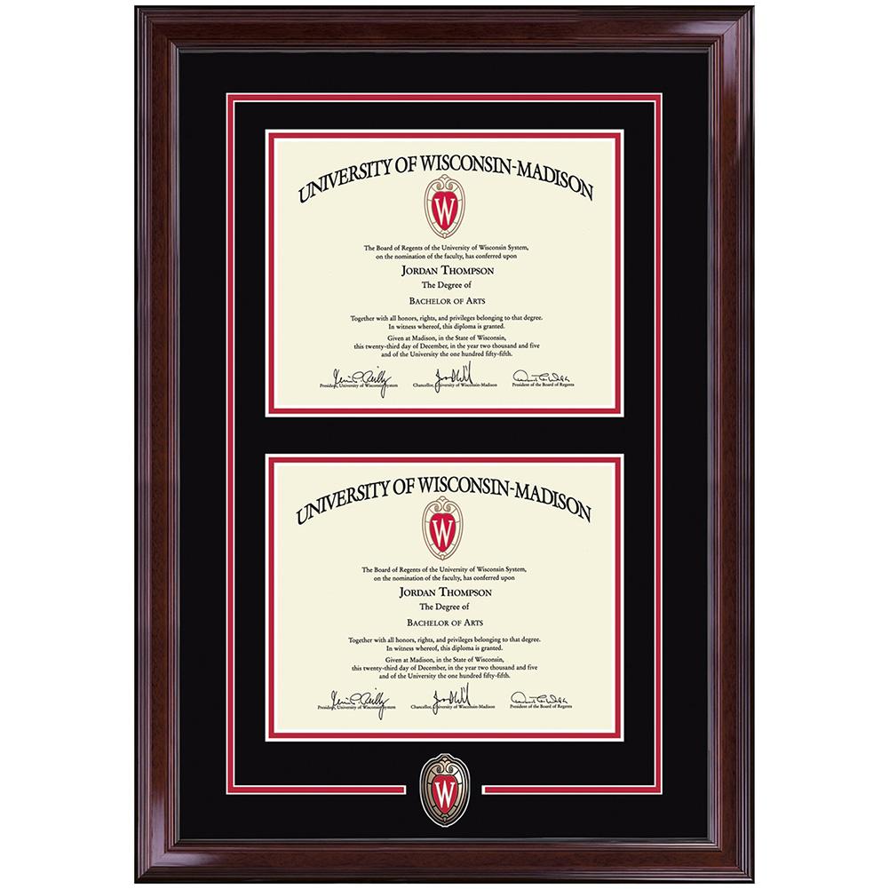 Church Hill Classics UW Shield Double Diploma Frame | University ...