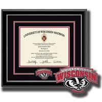 Church Hill Bucky Spirit Diploma Frame