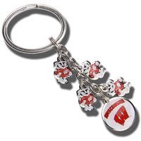 Neil Enterprises, Inc. Bucky Badger Dangle Key Chain