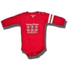 College Kids Baby Bucky Infant Long Sleeve Onesie (Red)