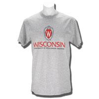 JanSport Wisconsin Shield T-Shirt (Gray) *