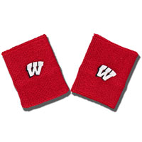 For Bare Feet Terry Wisconsin Wristbands (Red)