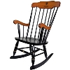 Standard Chair - Black Rocker with Cherry Crown and Arms