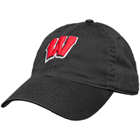 Legacy Adjustable Wisconsin Motion W Hat (Black)