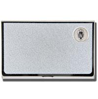 CSI Textured Card Holder Wisconsin Shield W (Silver)