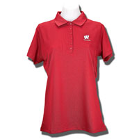 Antigua Women's Wisconsin Polo (Red) *