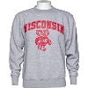 Blue 84 Wisconsin Bucky Badger Crew Neck Sweatshirt (Gray)