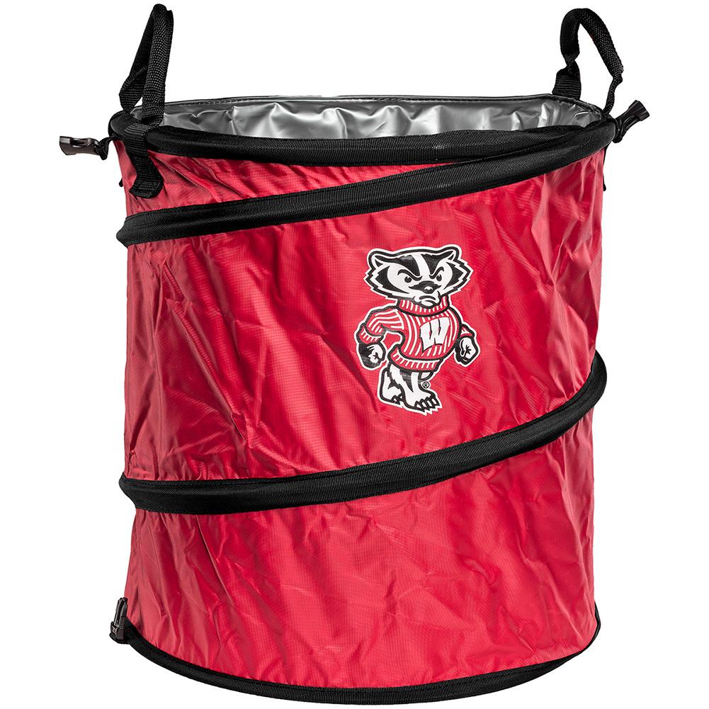 Logo cooler hamper or waste basket red university book store - Collapsible waste basket ...