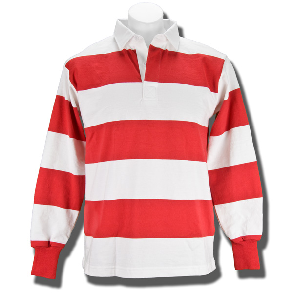 White red shirt artee shirt for Pink and purple striped rugby shirt