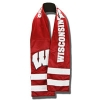 Little Earth Wisconsin Badgers Zip Pocket Scarf (Red)