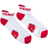 Donegal Bay Wisconsin Badgers Ankle Socks (White)