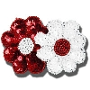 Spirit Products Double Flower Sequin Hair Clip