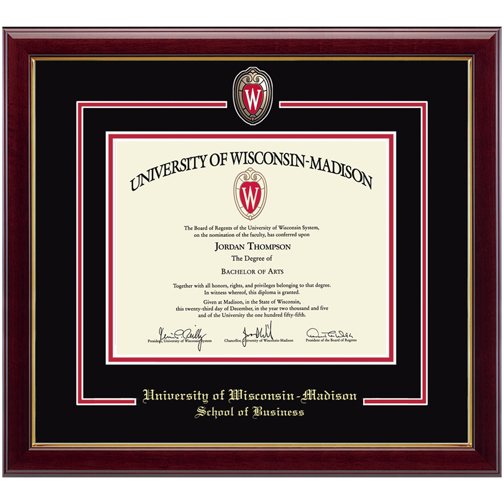 Church Hill Classics School Diploma Frame Business University Book
