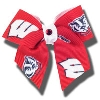 All Star Dogs Wisconsin Hair Bow thumbnail