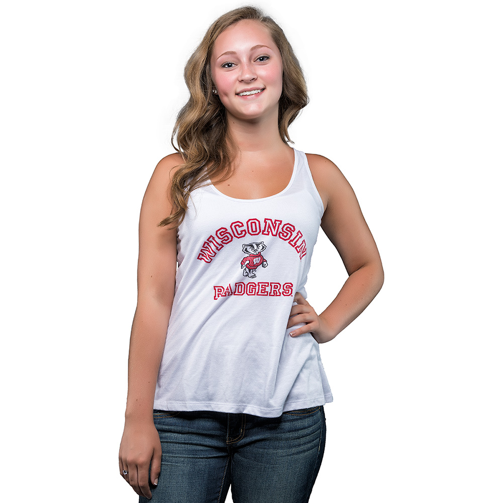 01a26d730629f Champion Women s Wisconsin Badgers Tank Top (White) thumbnail ...